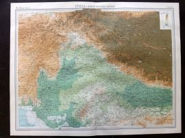 Bartholomew 1922 Large Map. India - North Western Section